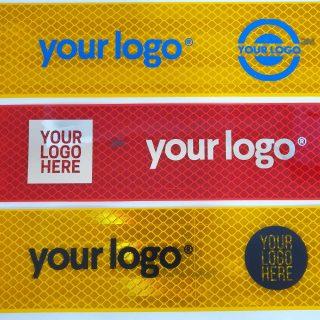 Светоотражающая лента с нанесением логотипа